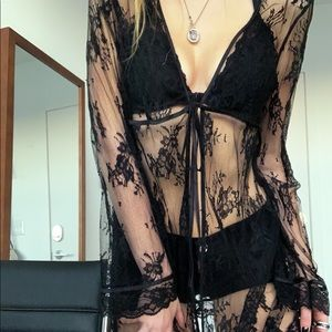 Other - Vintage lace long sleeve